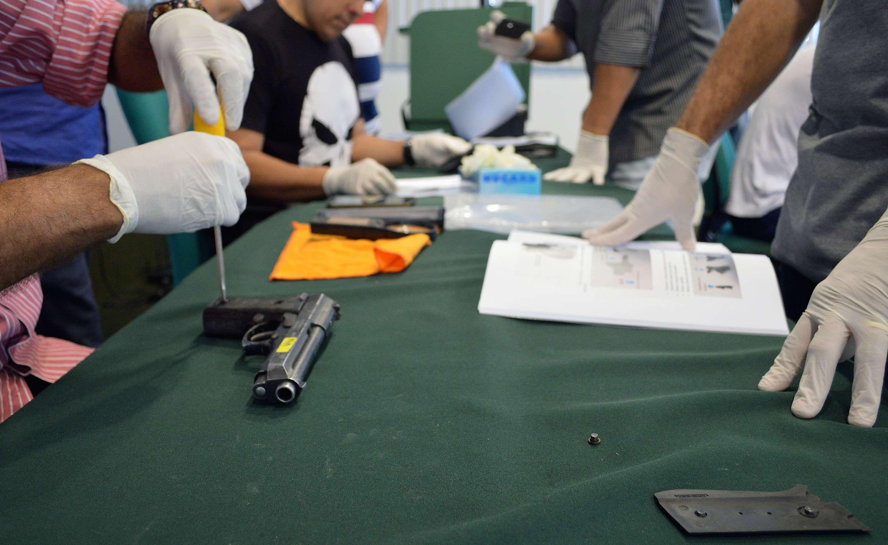 Aesp e Pefoce realizam curso de Microcomparação Balística e Desmontagem Avançada de Armas