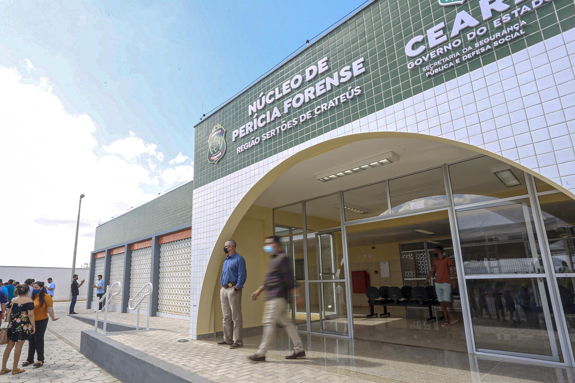 Governo do Ceará inaugura novo núcleo da Perícia Forense em Crateús